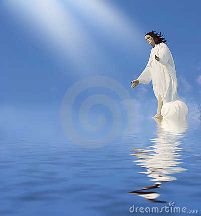 Jesus - Miracle Stock Photo