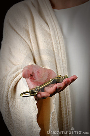 Jesus Offering Key
