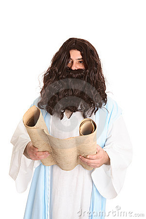 Jesus reading the scriptures