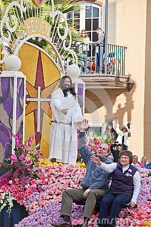 Jesus in the Rose Bowl Parade Editorial Image