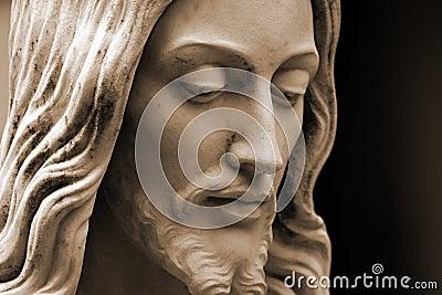 Jesus, sepia-toned photo  copy-space