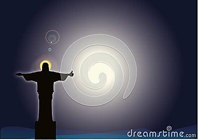 Jesus showing OK sign