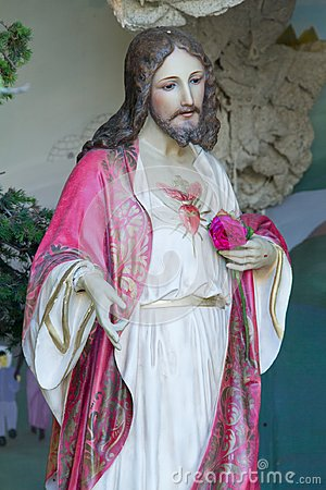 Free Jesus Statue In Museum Stock Photography - 121228512