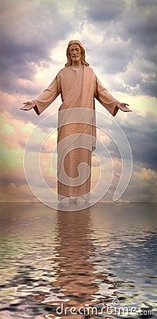 Free Jesus Walking On Water Royalty Free Stock Photography - 692697