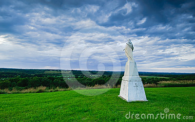 Jesus Watching Over The Mohawk Valley  Royalty Free Stock Images - Image: 24346859