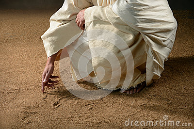 Jesus Writting in the Sand