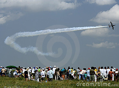 Jet aircraft at an air show in Romania
