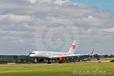Jet airliner Editorial Stock Photo