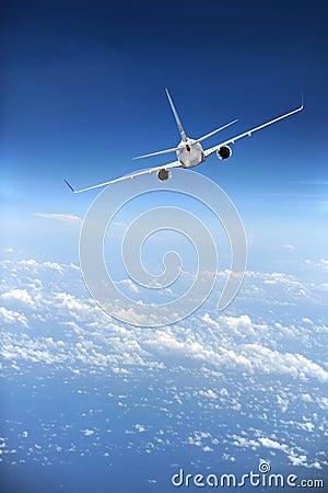 Jet Airliner in flight