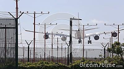 Jet Airliner Landing commerciale banque de vidéos