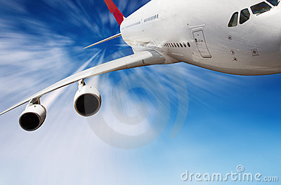 Jet airplane in the sky