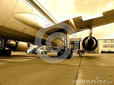 Jet airplane on tarmac
