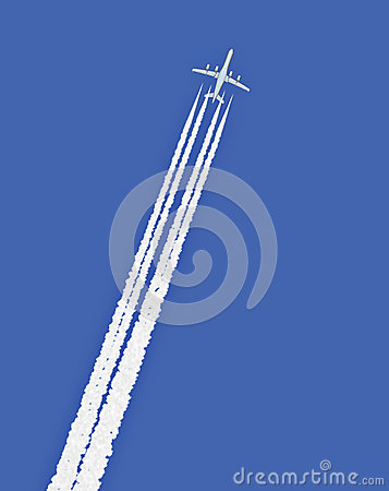 Jet Airplane With Trail Stock Illustration - Image: 42956195
