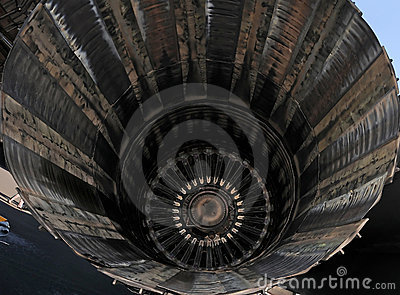 Jet engine closeup