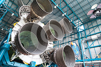 Jet engine components Editorial Image