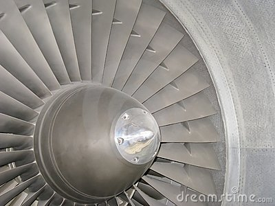 Jet engine front