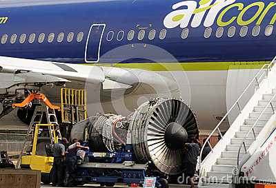 Jet engine repair Editorial Photography