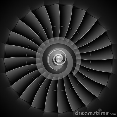 Jet engine turbine blades Vector Illustration