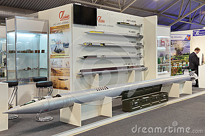 Jet missiles of various purposes Editorial Stock Image