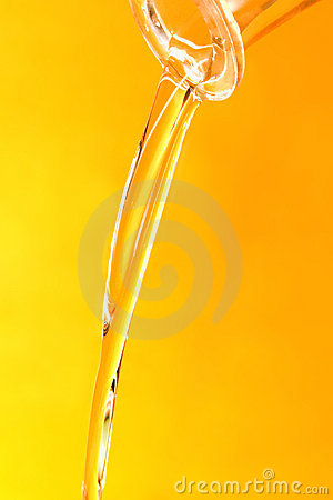Jet of oil
