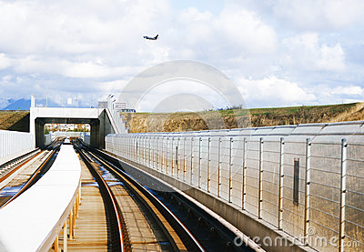 Jet over overpass