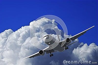 Jet plane in a sky