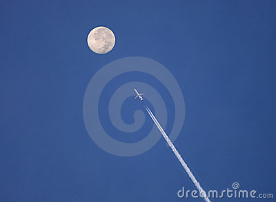 Jet plane to the moon