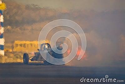 Jet powered drag racing car