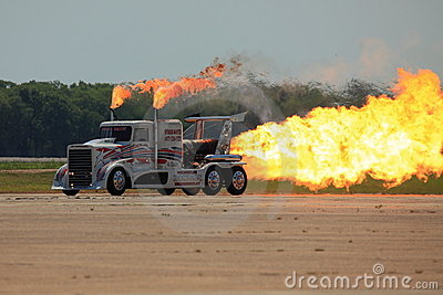 Jet Powered Truck Editorial Stock Image