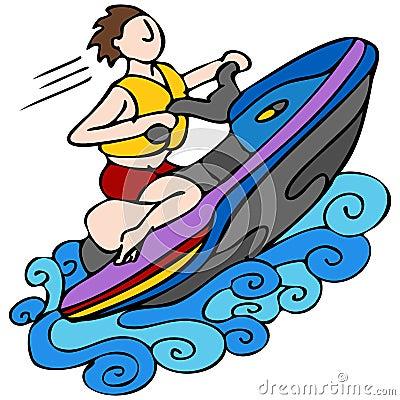Image result for jet ski cartoons
