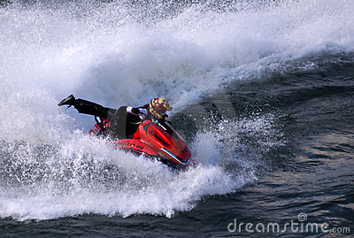 Jet ski attractions at a carnival-1 Editorial Stock Photo