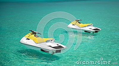 Jet Ski on the indian ocean