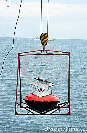 Jet ski lift for dry storage