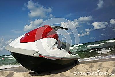 Jet ski shore