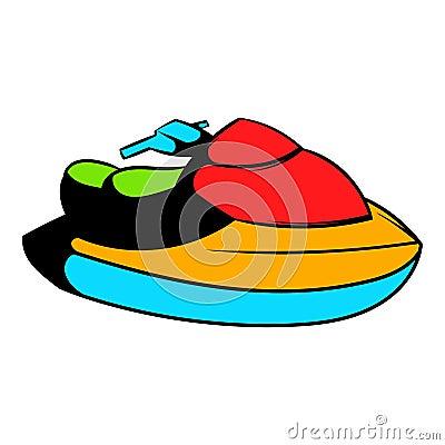 Free Jet Ski Water Scooter Icon, Icon Cartoon Royalty Free Stock Photos - 88303948