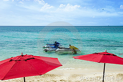 Jet skis in paradise