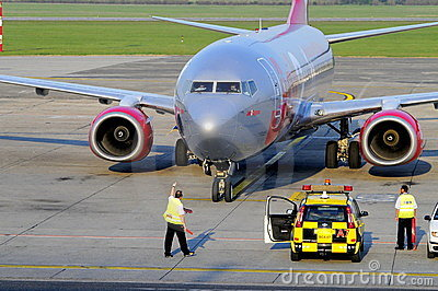 Jet2 arriving Editorial Stock Photo