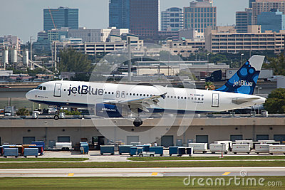 JetBlue Airbus A320 Editorial Stock Image