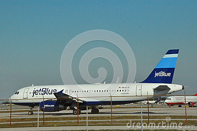JetBlue Airbus at Fort Lauderdale FLL Airport Editorial Photography