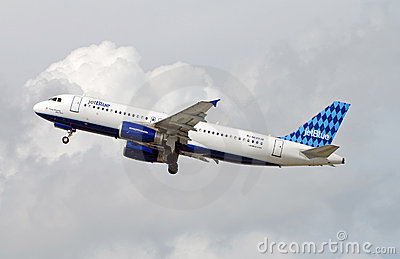 Jetblue airplane taking off Editorial Photo