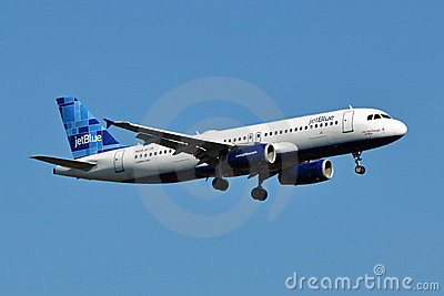 JetBlue Airways Airbus A320 Landing Editorial Image