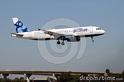 Jetblue passenger jet Editorial Stock Photo