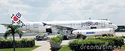 JetBlue Plane Editorial Photo