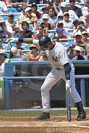 Jeter At Bat Editorial Stock Image