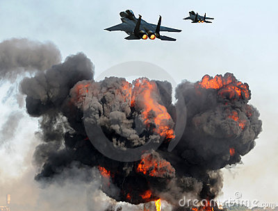 Jetfighters in attack