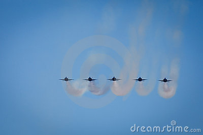 Jets Leave Vapor Trails Fleet Week Air Show Editorial Photography