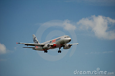 Jetstar A320 on approach Editorial Photography