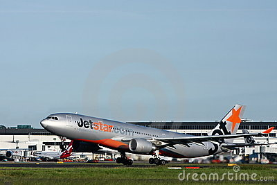 Jetstar Airbus A330 taking off. Editorial Stock Photo