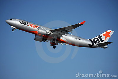 Jetstar Airbus A330 taking off. Editorial Photo