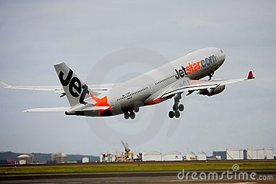 Jetstar Airbus A330 taking off Editorial Stock Photo